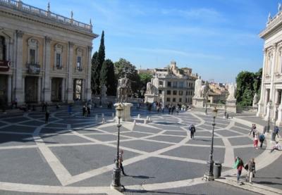 Current day  Campidoglio  in Rome 12- petal vesica star pattern