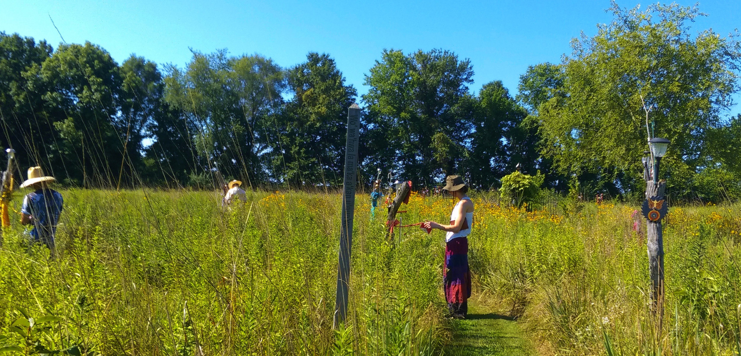 Moving through your own Chakra system as you walk the Prairie Labyrinth