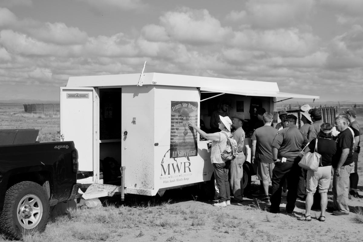 Purchasing souvenirs, WSMR, New Mexico.