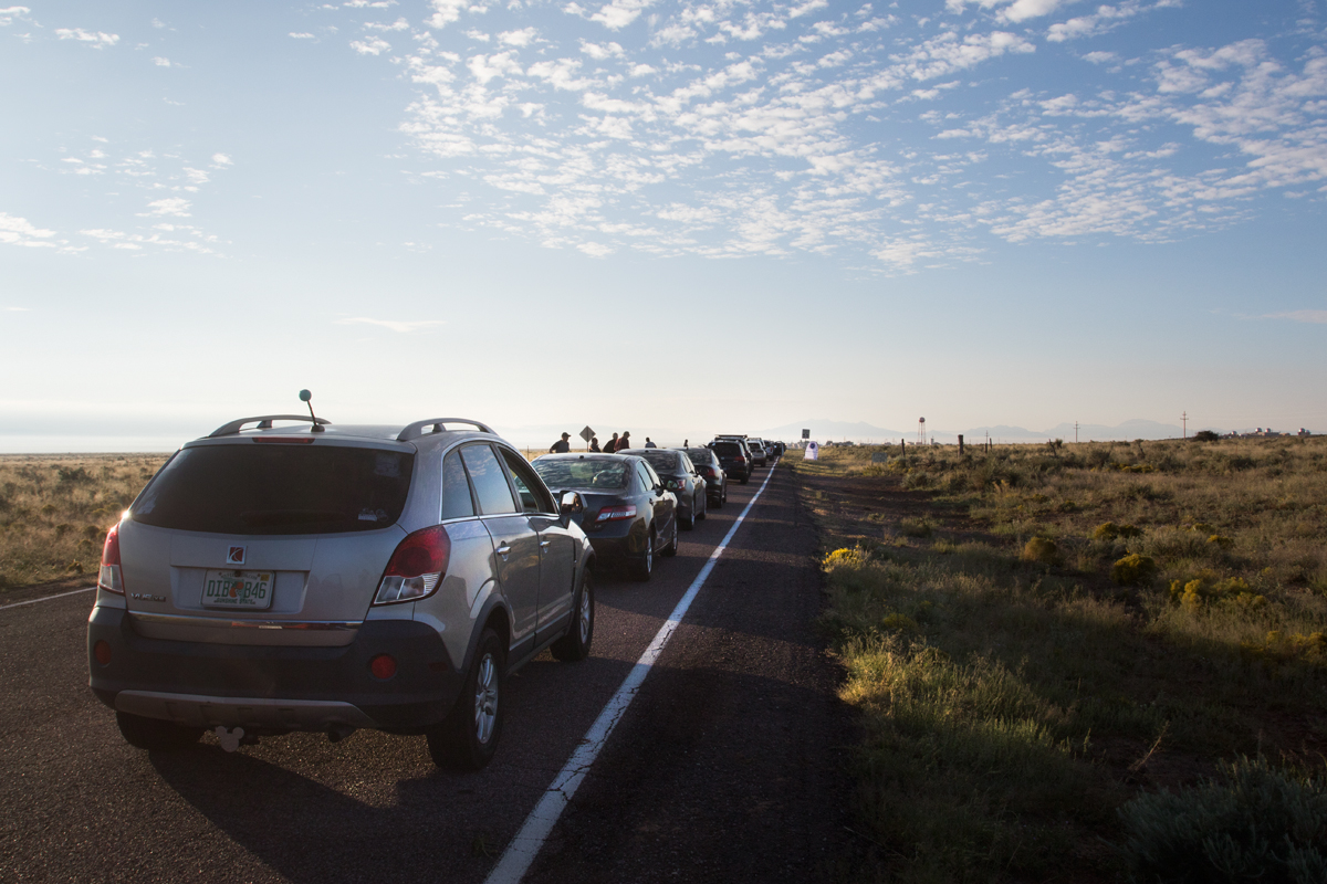 Parked on the access road to Stallion gate, WSMR, New Mexico.