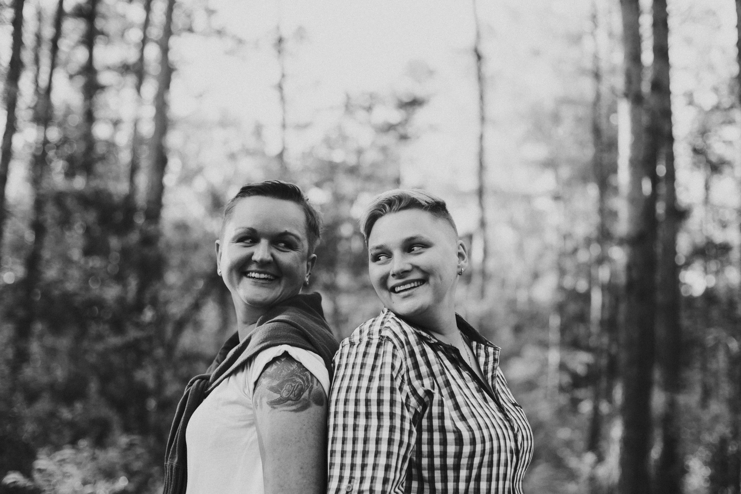 bride and bride wedding photographer scotland