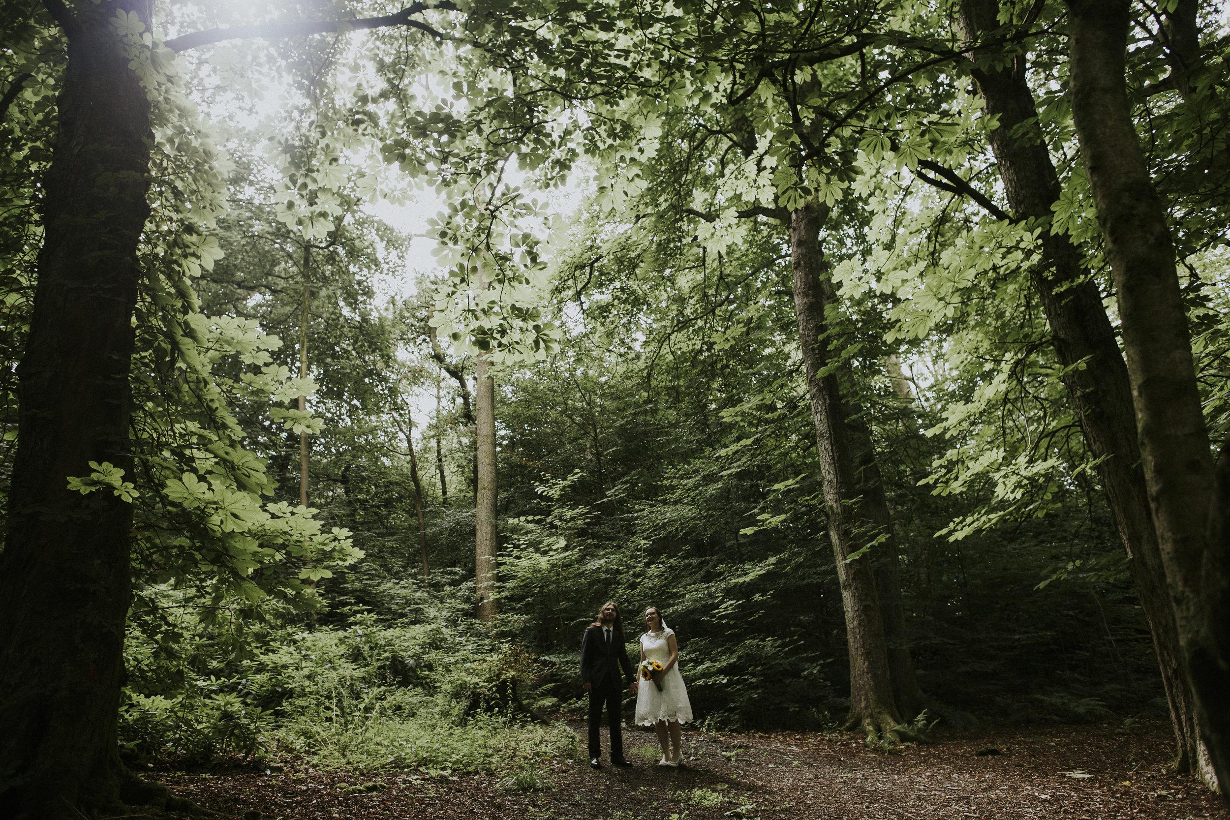 wedding in the woods Glasgow