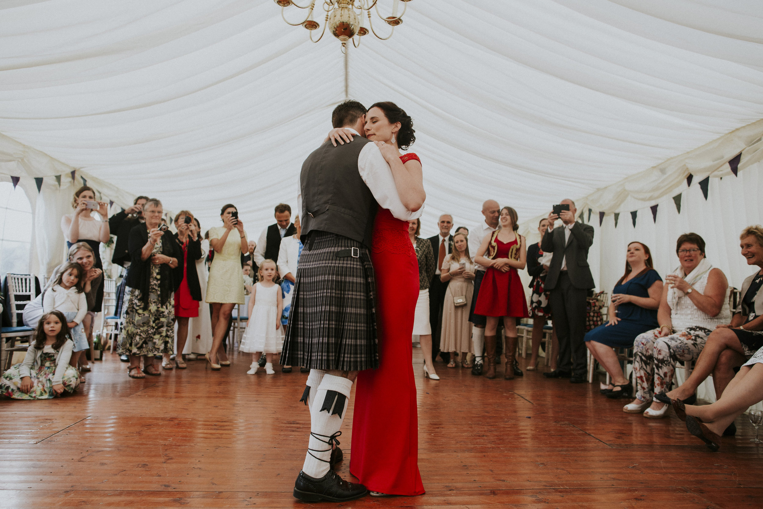 wedding red dress scotland