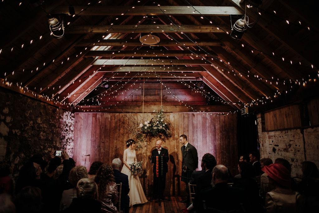 Wedding ceremony Byre at Inchyra