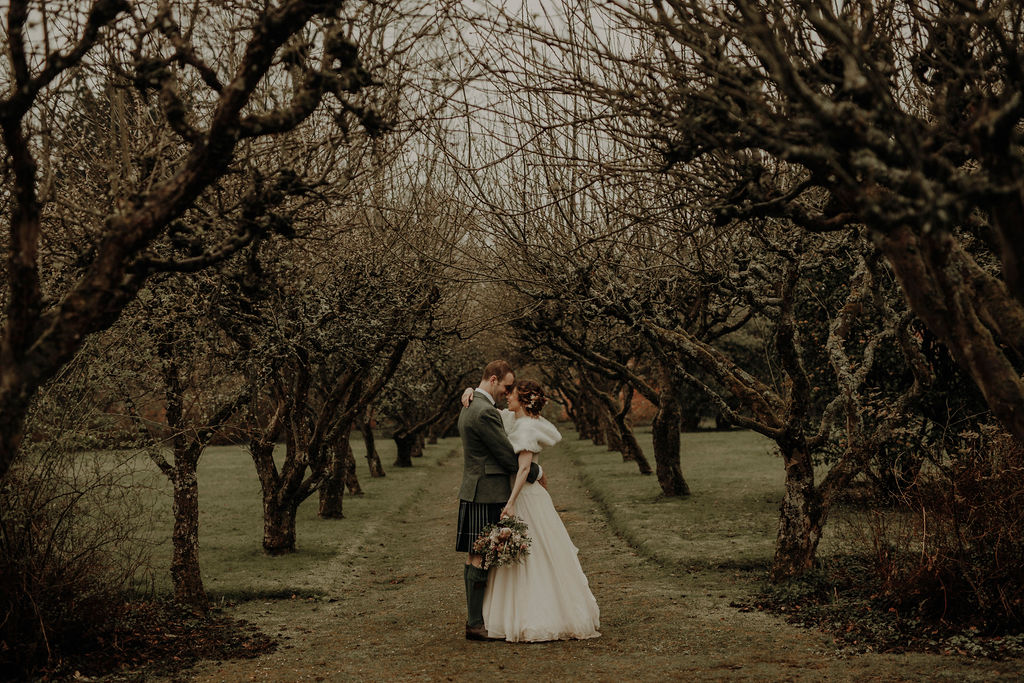 Spring wedding Byre at Inchyra