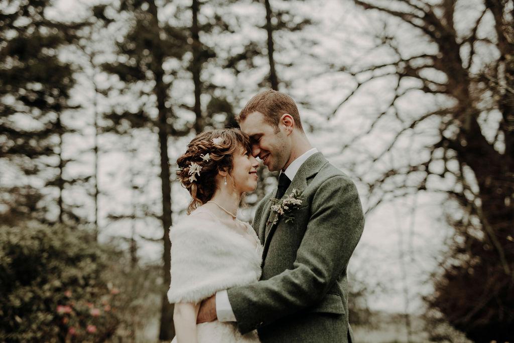 forest wedding photoshoot