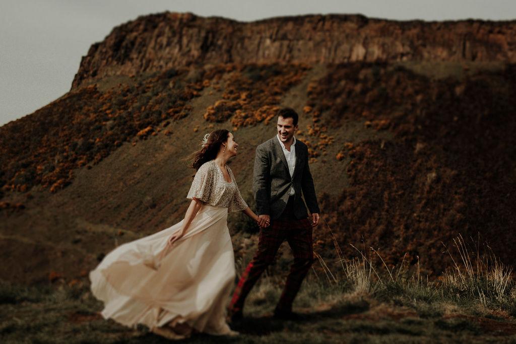 Edinburgh Arthurs Seat Wedding Photographer