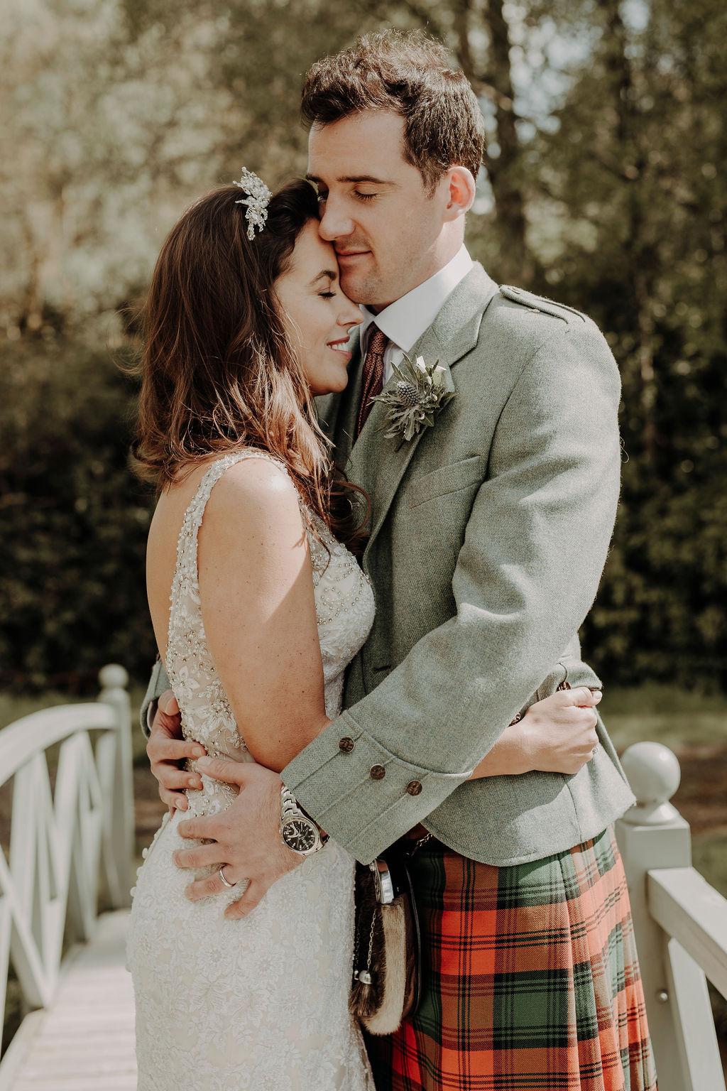 bride in tiara