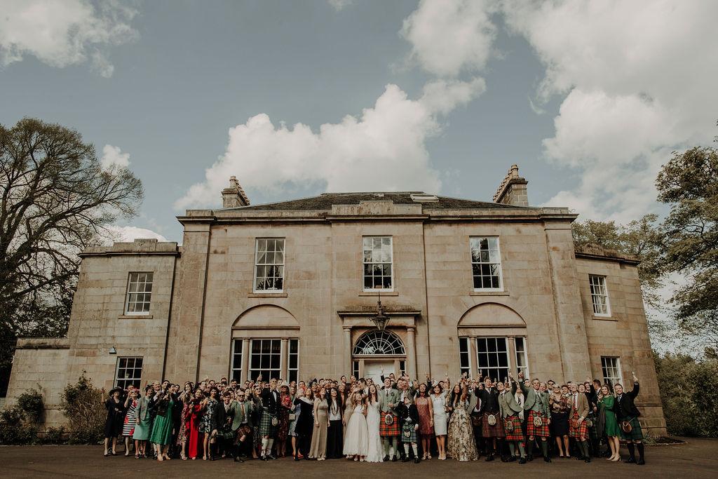 group photo wedding