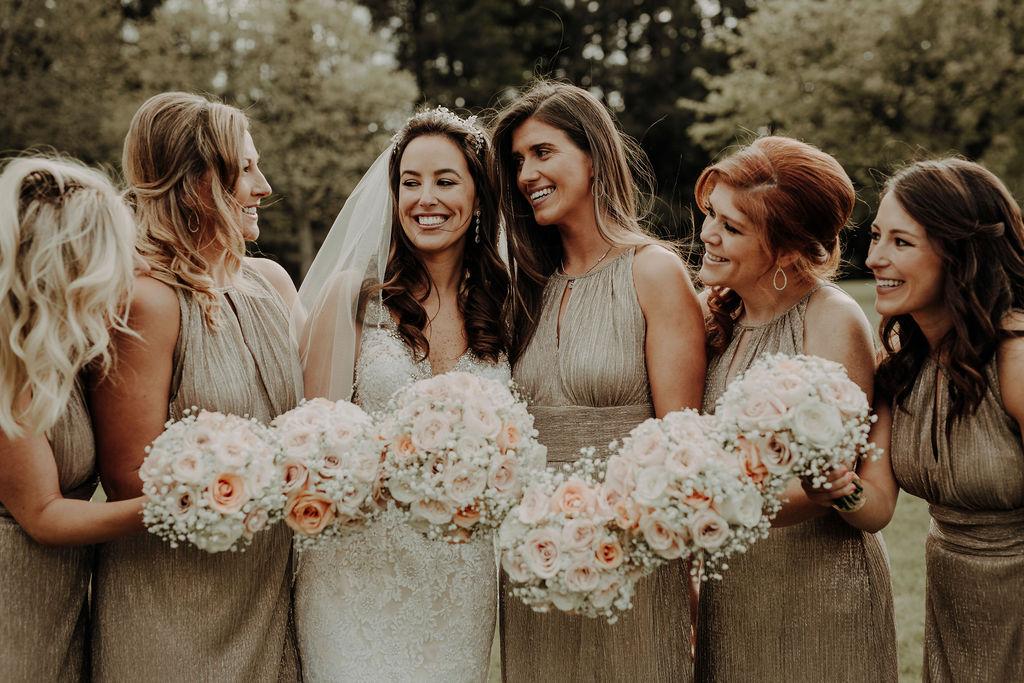 bride and bridesmaids scotland