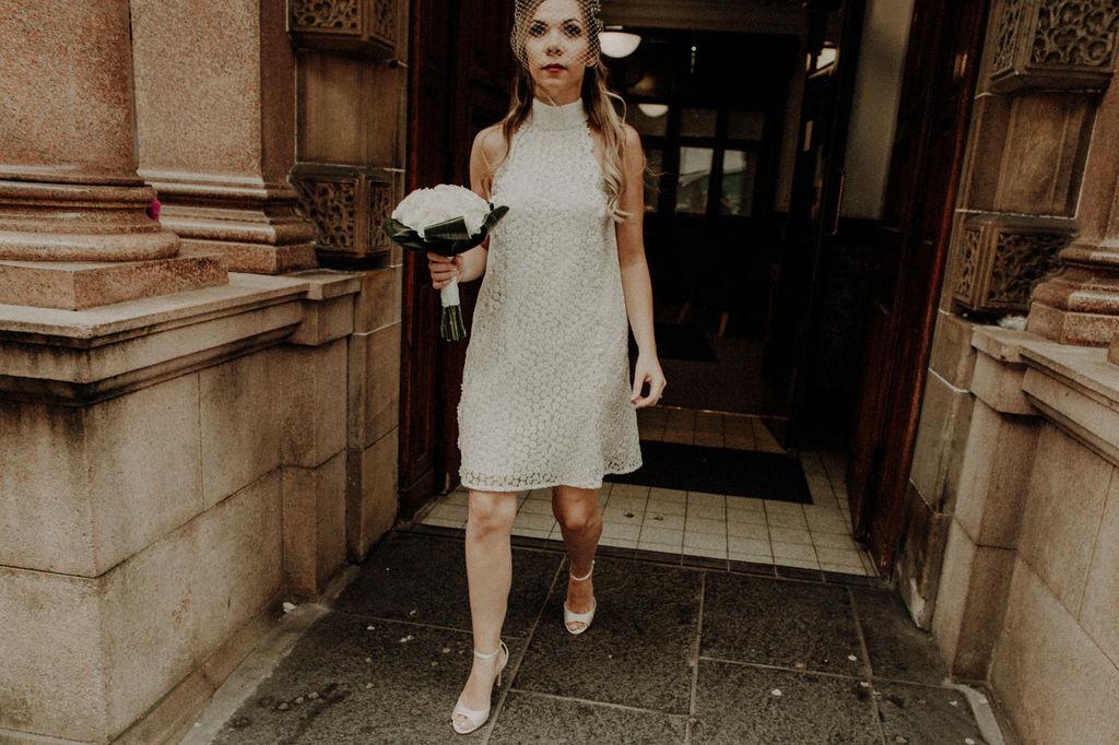 bride short wedding dress inspiration