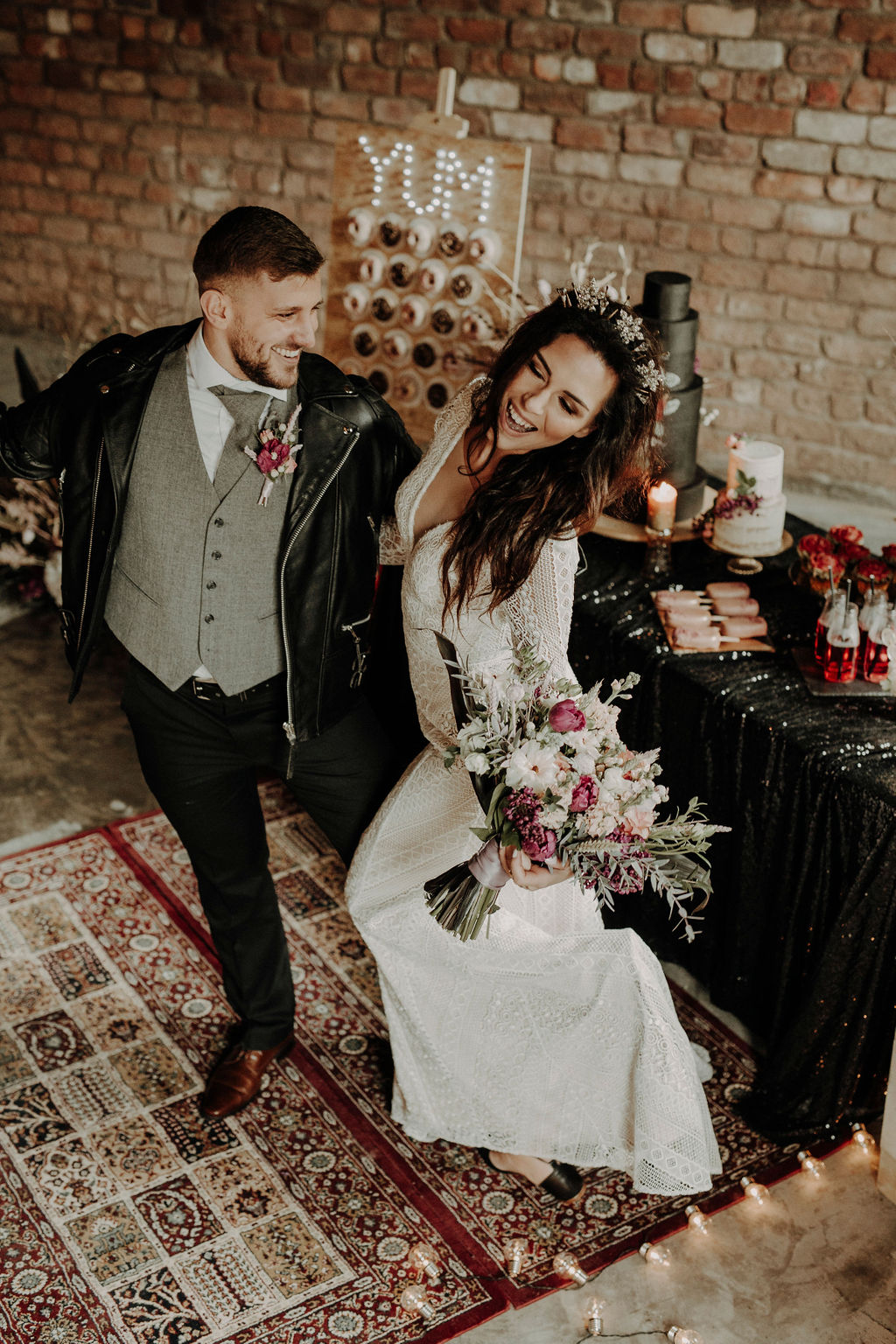 the best wedding suppliers Scotland Glasgow wedding photographer The Engine Works price boho rock moody relaxed