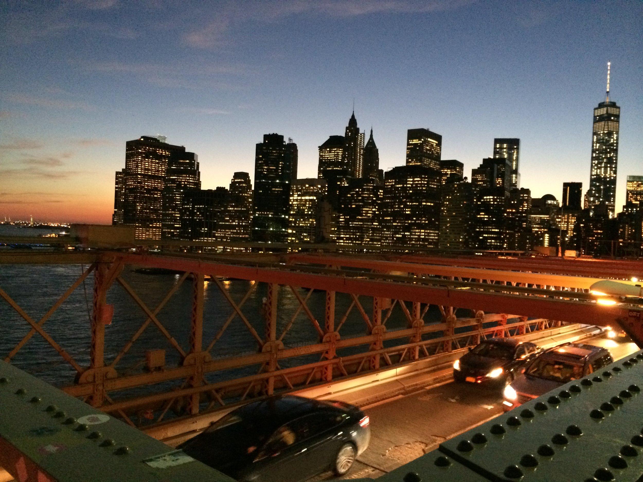 Brooklyn Bridge at night!!! Gorgeous!