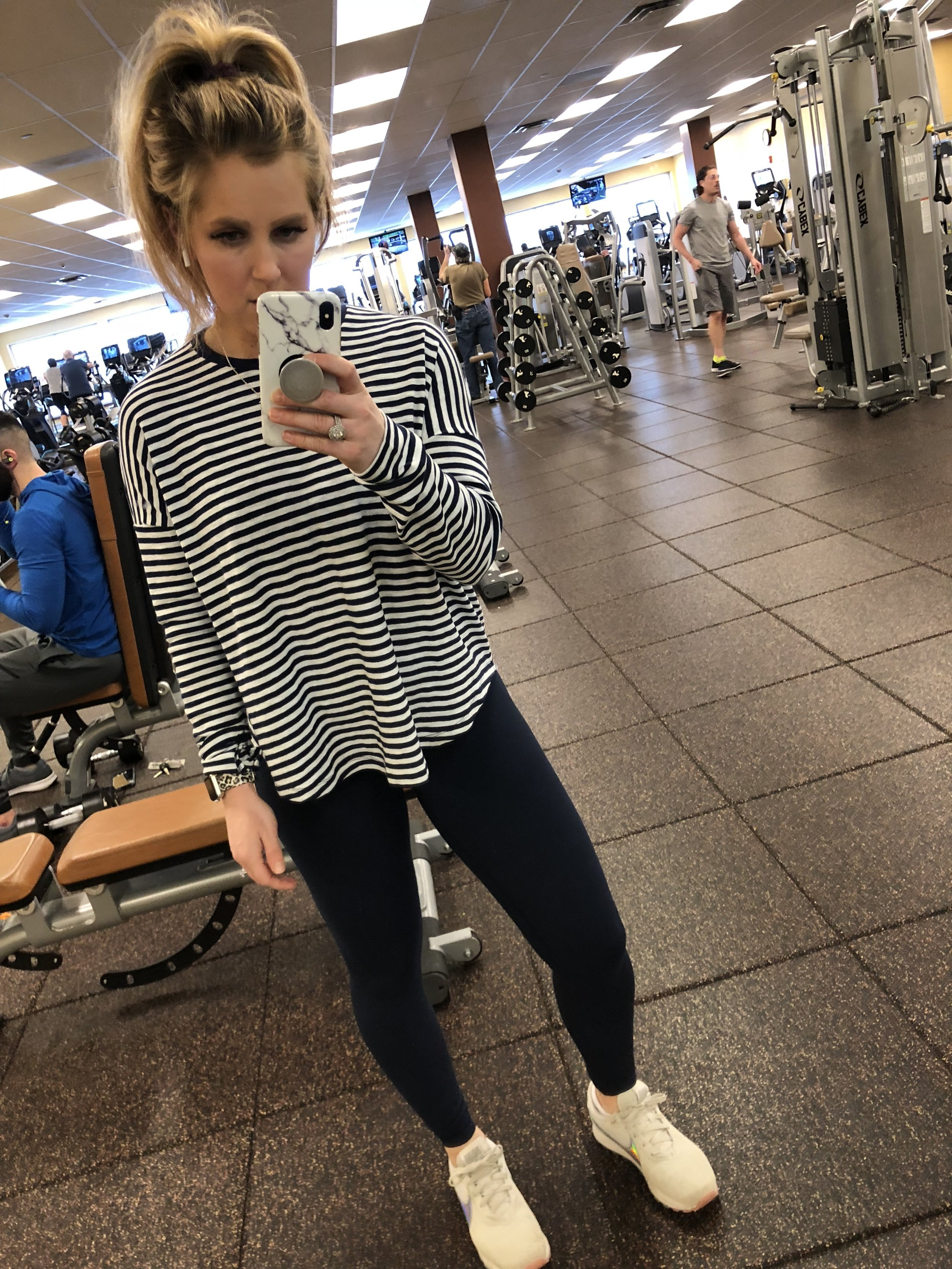 764d2c223796b7 4 weeks postpartum and hit up the gym for the first time ….YES