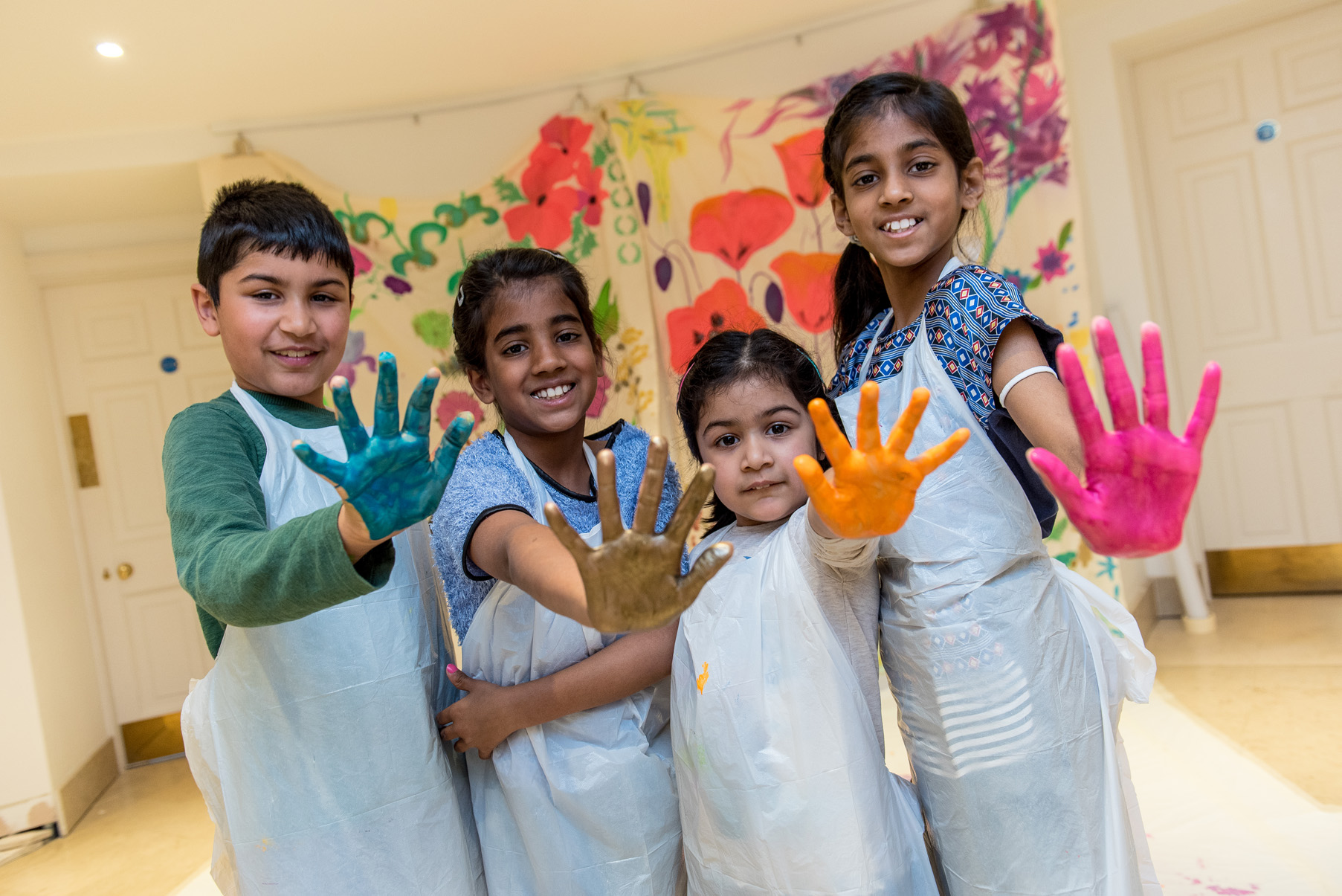 Botanical Bentley - An Arts Council England supported project at Bentley Priory Museum, which involved creating two permanent murals in the museum cafe and Learning Centre, and co-creating a temporary mural with museum visitors. Read more here.