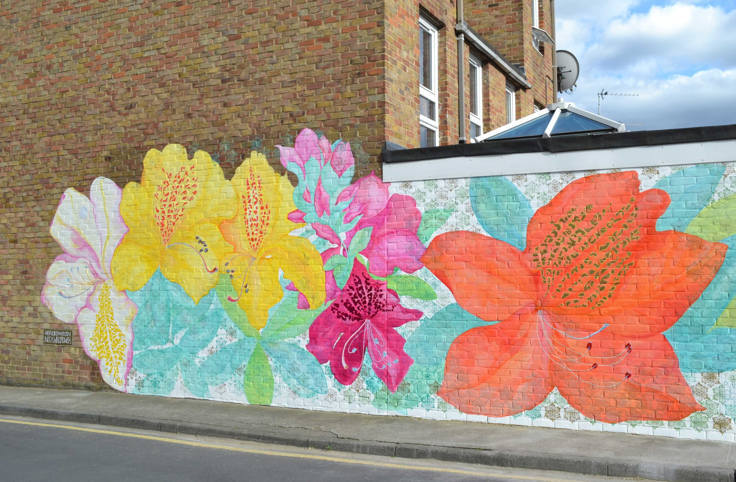 Not a wallflower - A vibrant mural in South East London inspired by Indian plants and patterns. Read about this commission here or alternatively watch the two short films below.