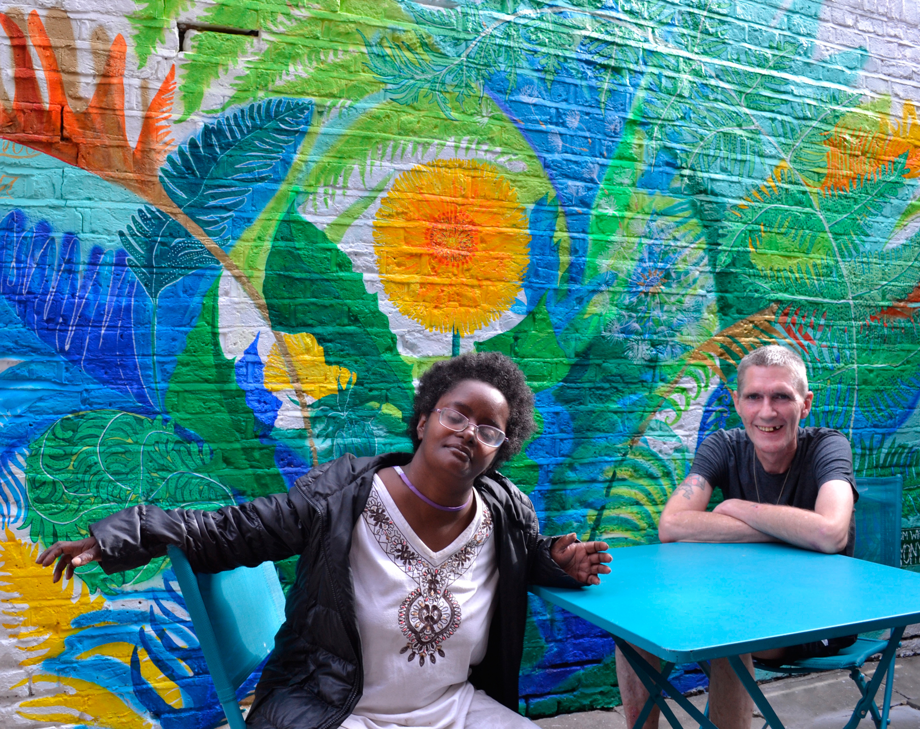 Love your space - A mural commission for a homeless shelter in South West London. Read about the project here.