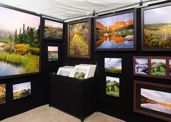 A view of my art show booth. Stop by one of my shows to check it out!
