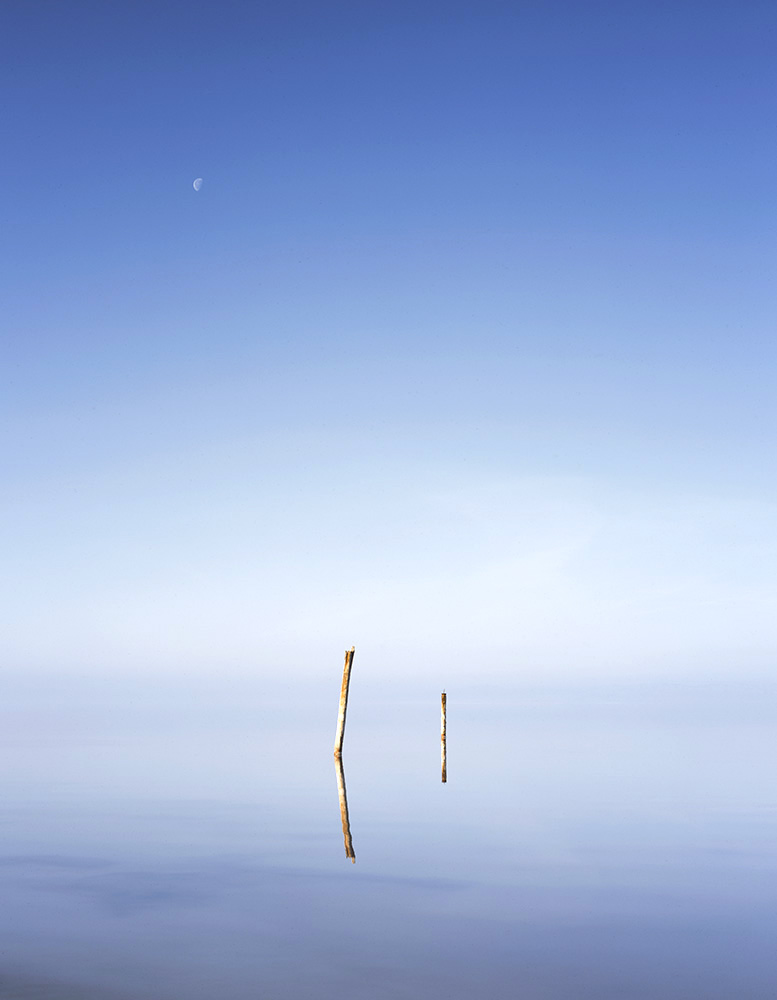 Moon, Posts, Water