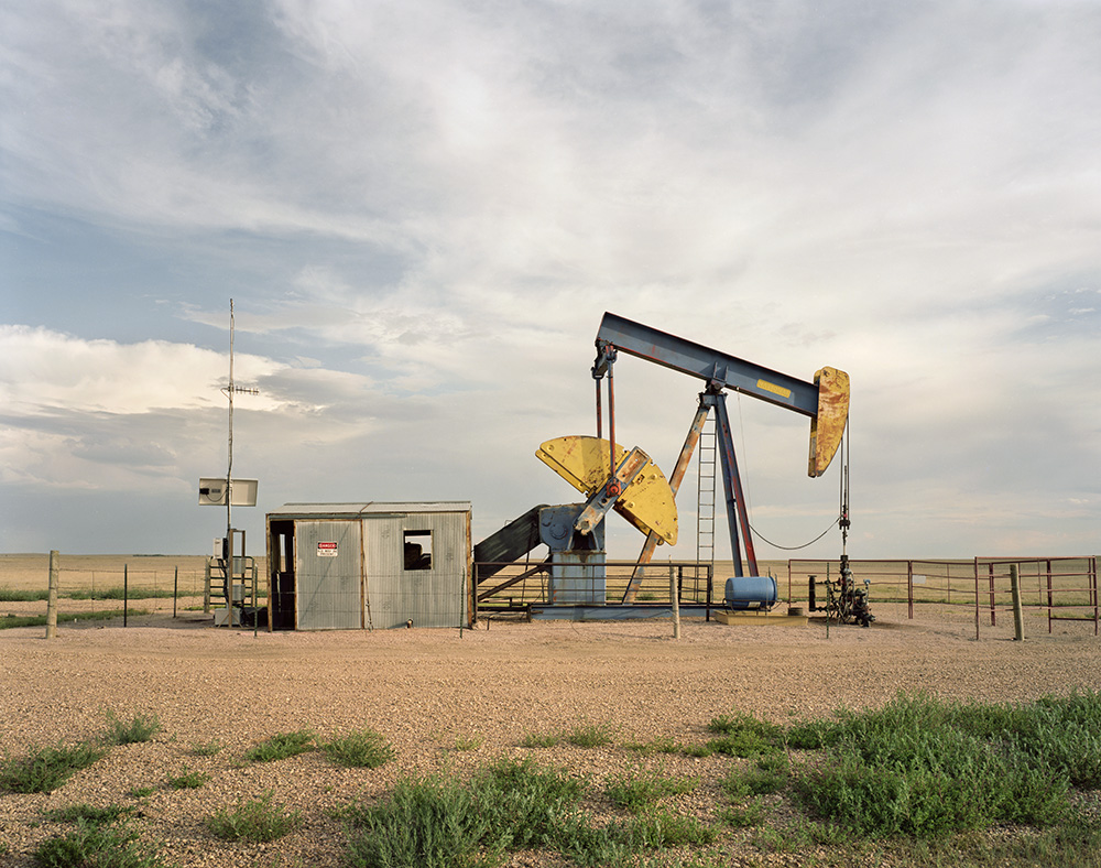 Blue and Yellow Pumpjack