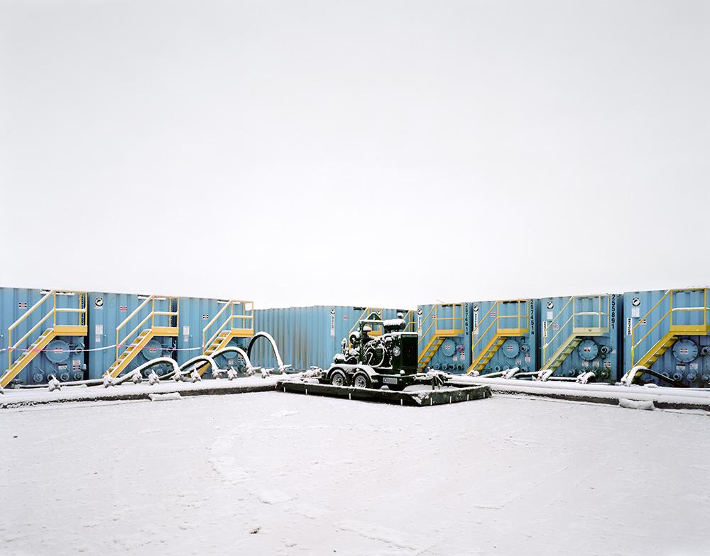 Frac Tanks in Snow