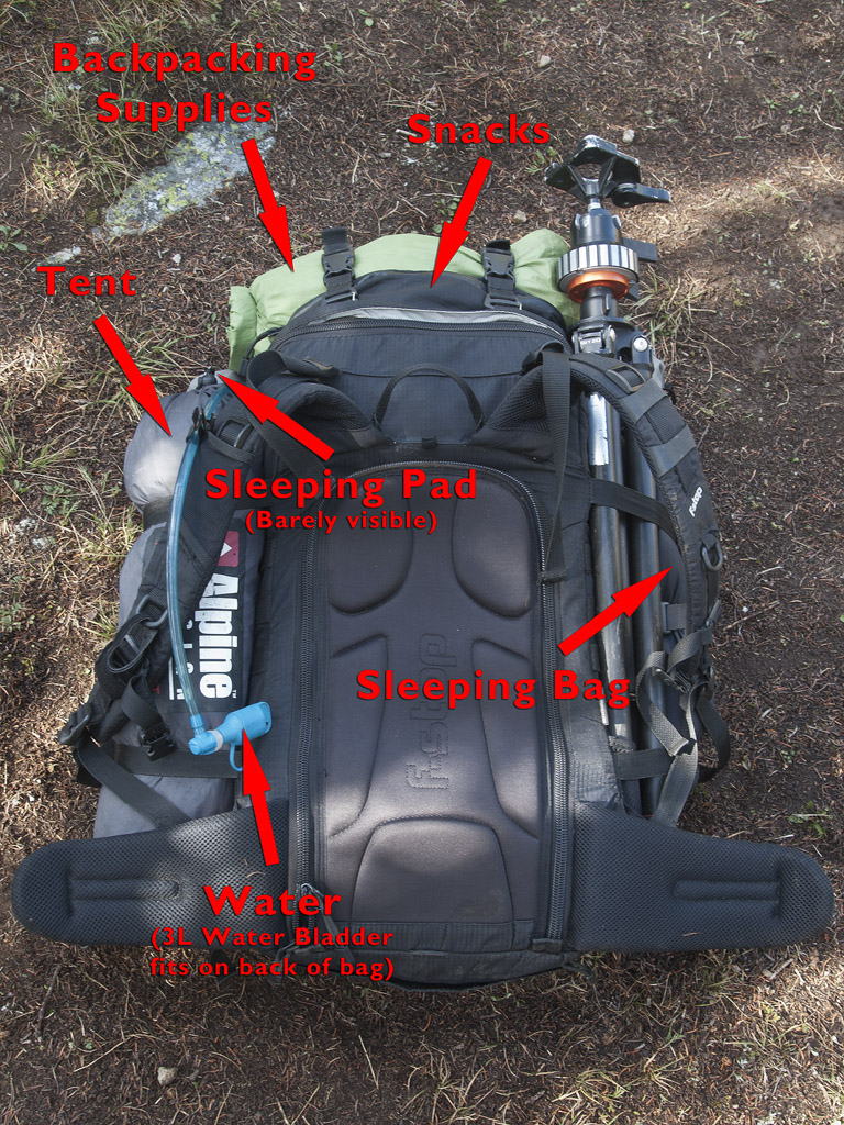 Outside of my backpacking bag