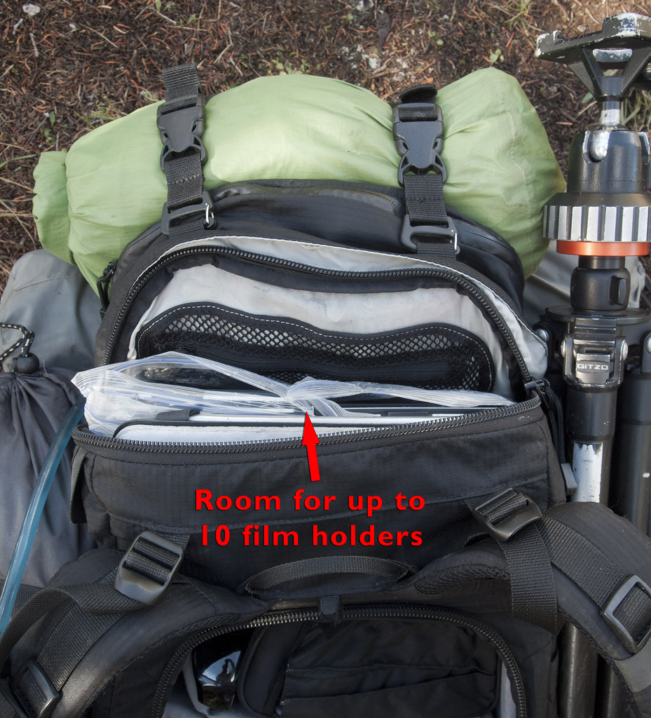 Top compartment in bag