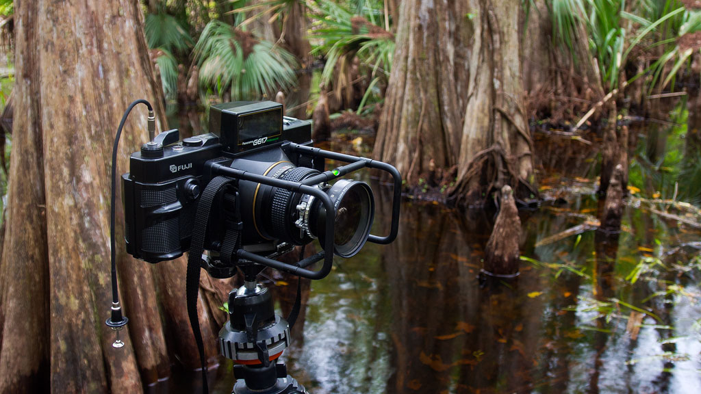 The Fuji G617 in a swamp in Florida