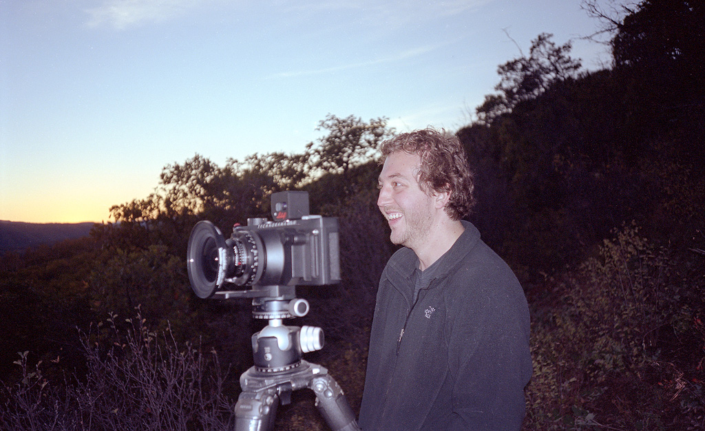 Photographer Michael Strickland and his giant pano camera