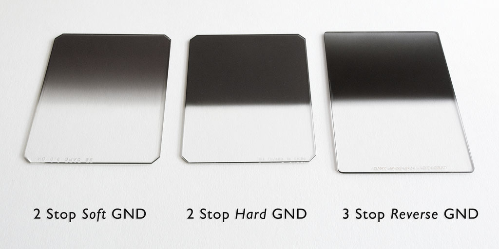 Image showing soft edge, hard edge, and reverse GND filters