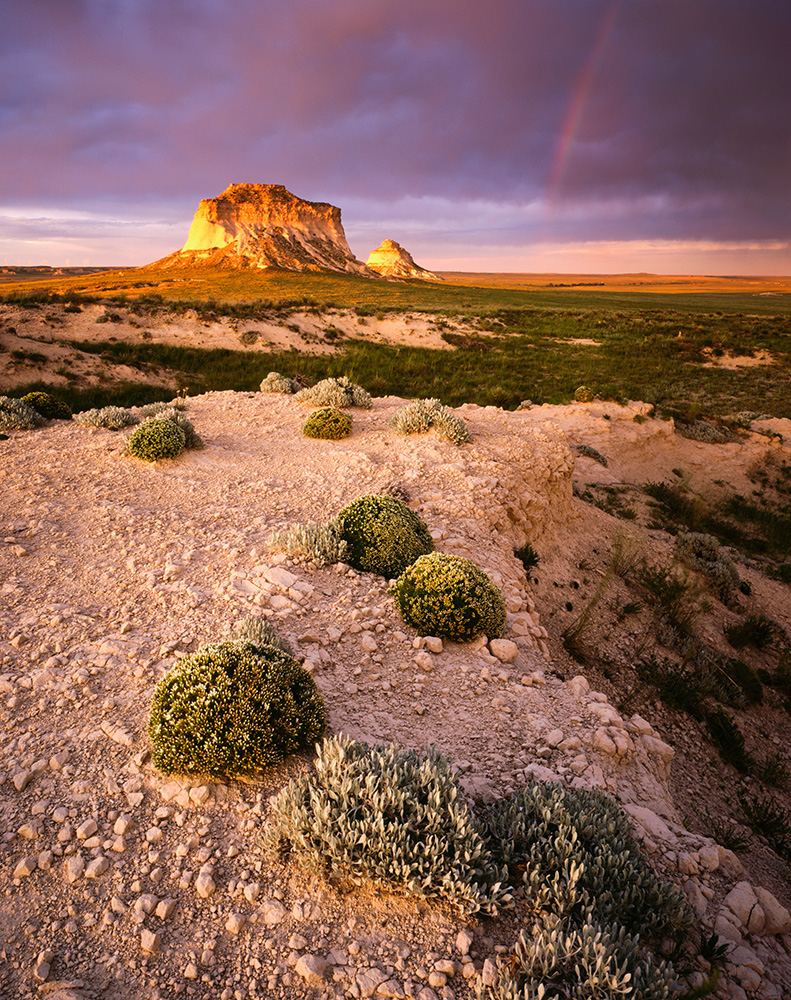 """Pawnee Buttes Sunset"" - Velvia 50 4x5, 75mm lens, 2 seconds at f32, 1 stop soft GND filter."