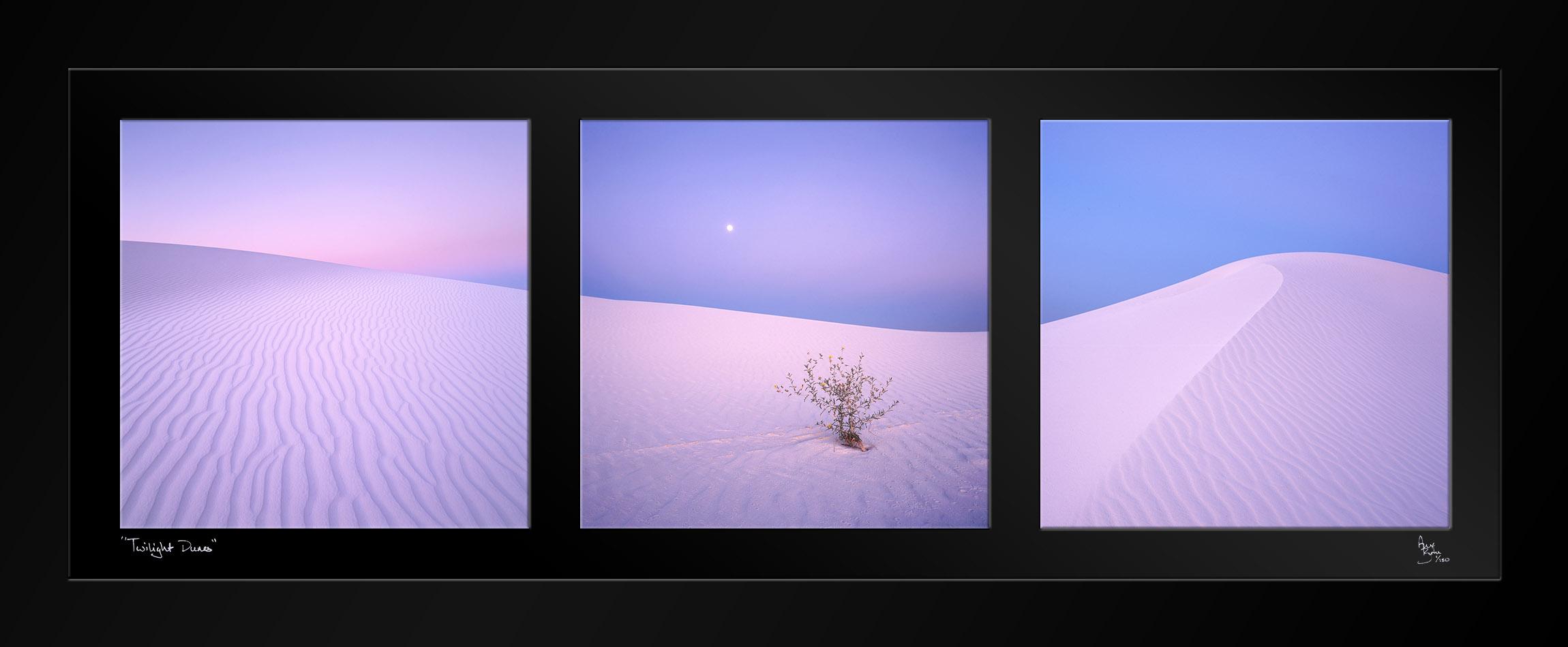 """Twilight Dunes"" Triptych"