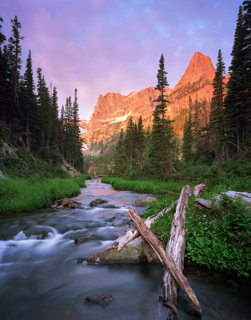 """Fern Creek Sunrise"" - A wild sunrise lights up the sky near Odessa Lake in Rocky Mountain National Park. Prints Available."