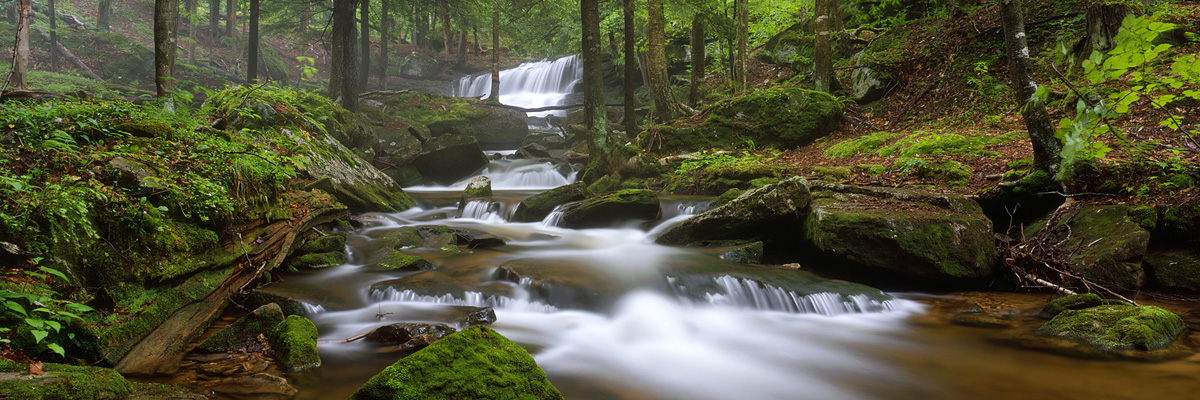 """Logan Run Falls"" - Provia 100f example. 40 seconds at f45, polarizer and warming filters."