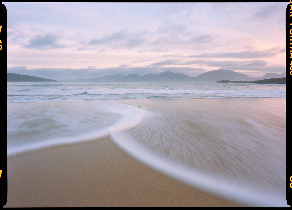 """Luskentyre Morning"" - Portra 400 645, 35mm lens, 1/2 second at f16, no filters"