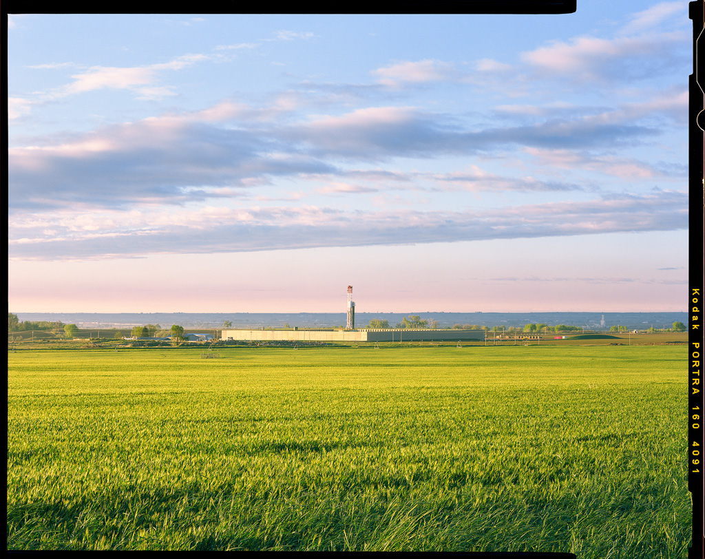 Drilling Rig and Green Wheat