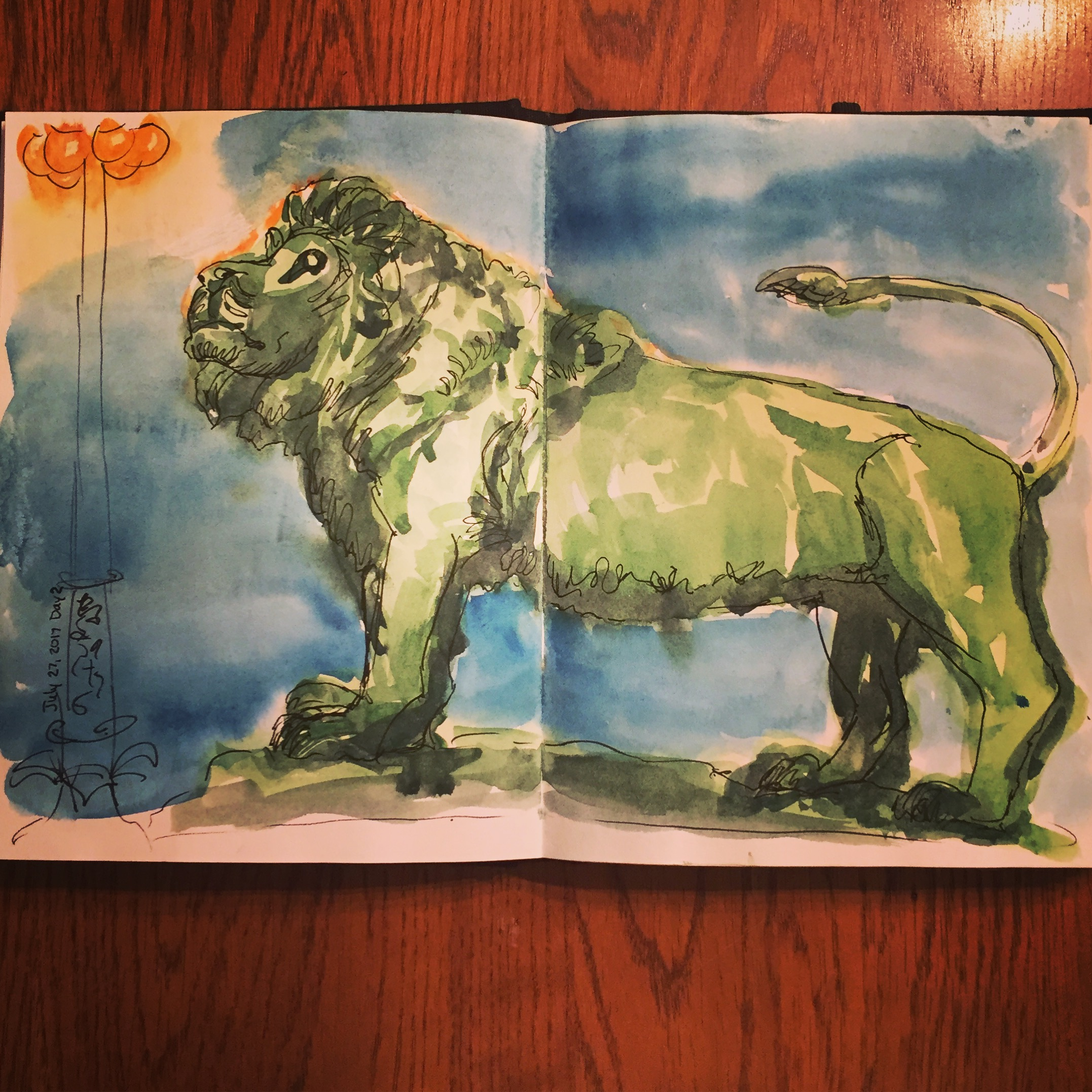 One of the Art Institute Lions