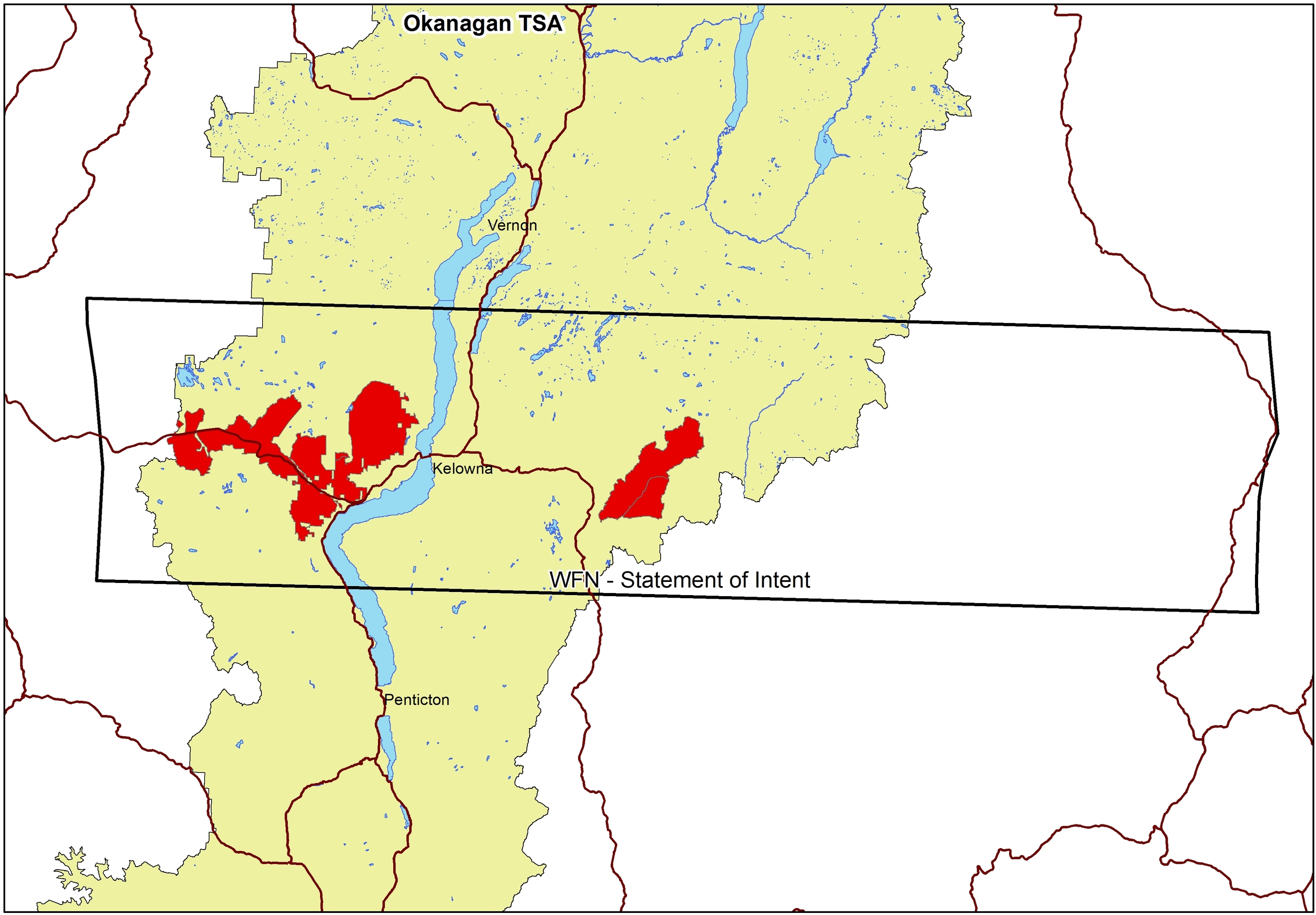 Westbank First Nation Forest Tenures Overview Map
