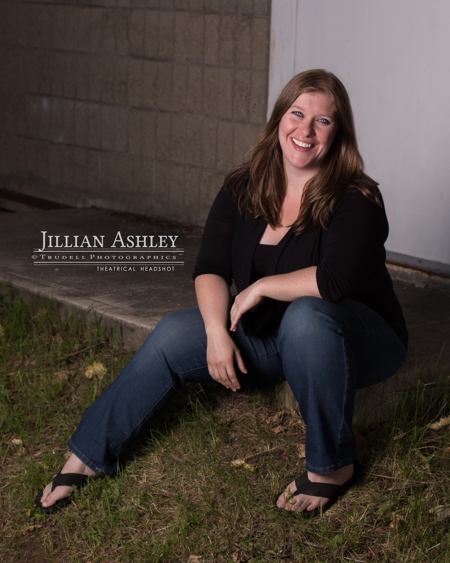 Natural smile from comedian Jillian Ashley Bruyere. Is it possible the photographer was funny? Or perhaps Light Man Dave? Maybe Detail Girl Rosie? We may never know. It's likely that she was coming up with some new material for her next stand-up act.