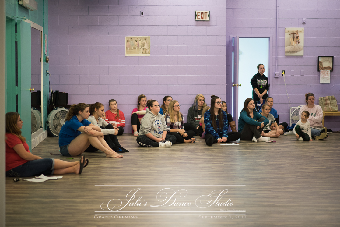 Some of Julie's many dance teachers and helpers meeting on the plans and expectations for the coming successful year!