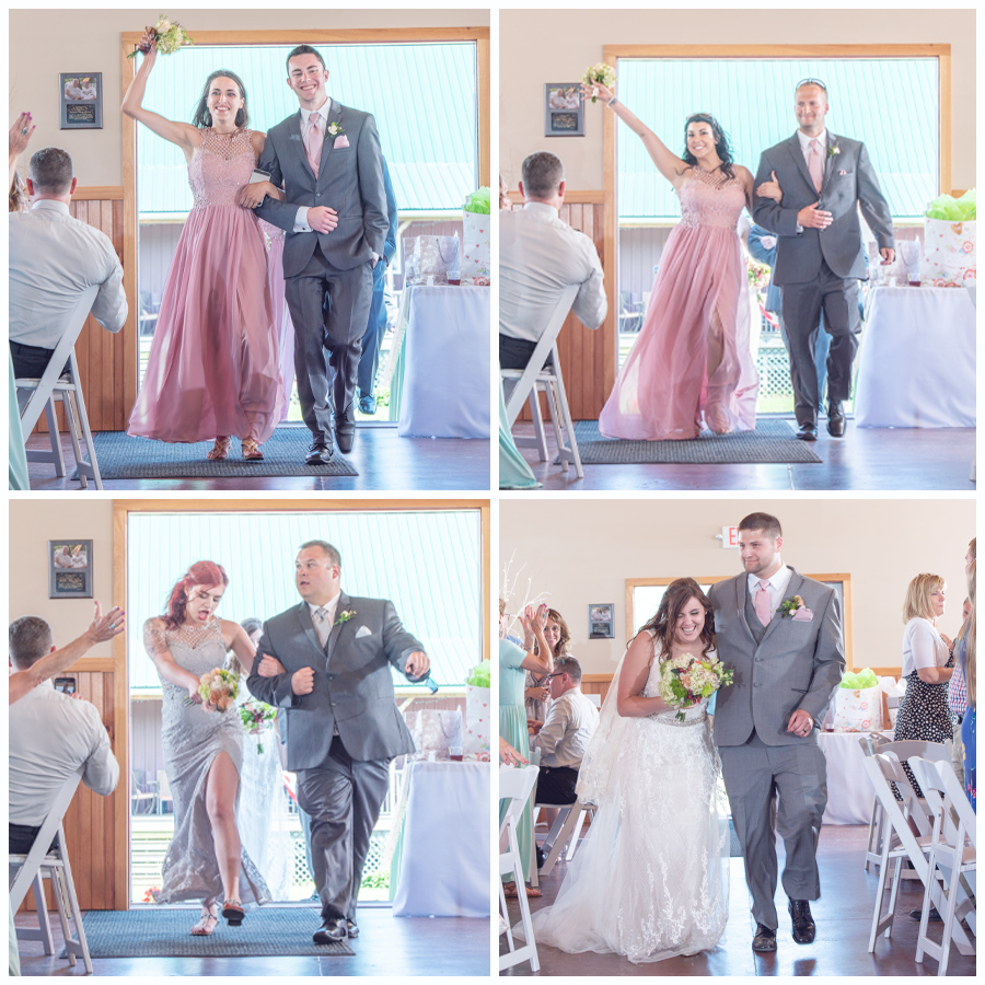 Brittany was escorted by Travis:  Kaela was escorted by Matt.  Marissa was escorted (en vogue) with Kurtis  And Ladies and Gentlemen …. Introducing Mr. & Mrs. Andy & Sierra Bell!