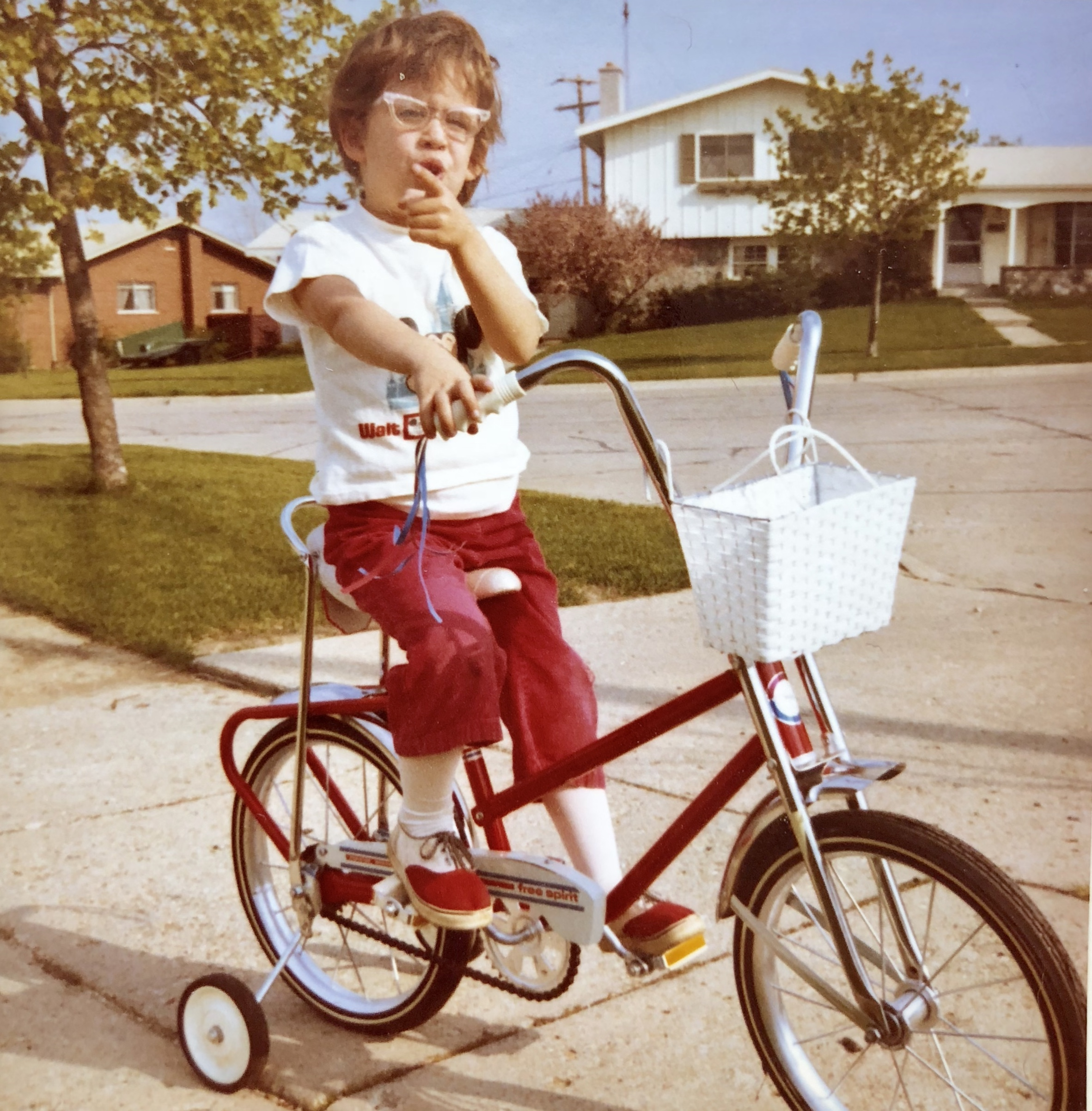 obviously In april of 1972 I had the trendy specs And a sweet ride to get around on, but clearly i was making a point to my parents that what i really needed was my first camera to go with it!