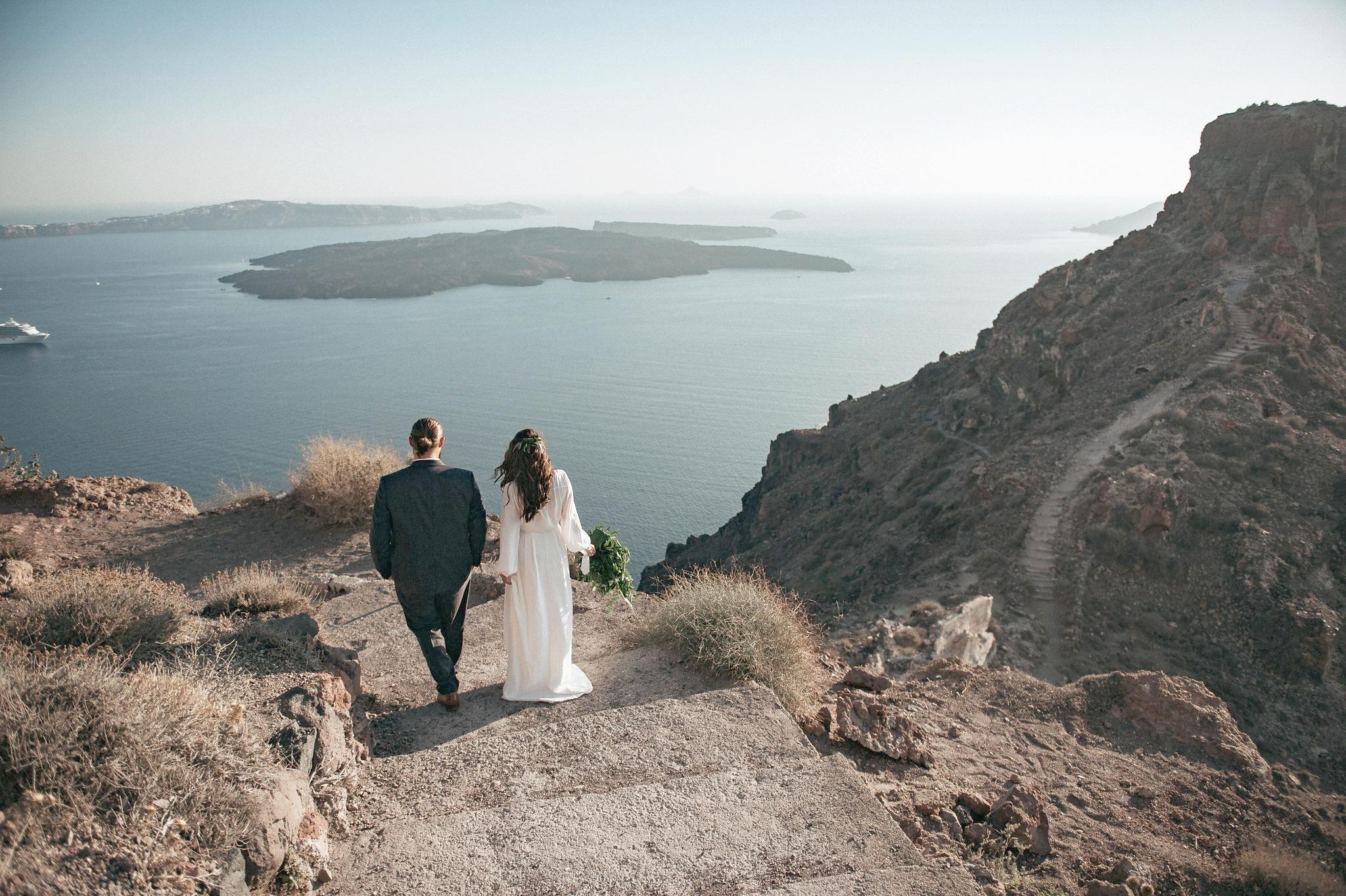 taylor + owens - santorini   elopement