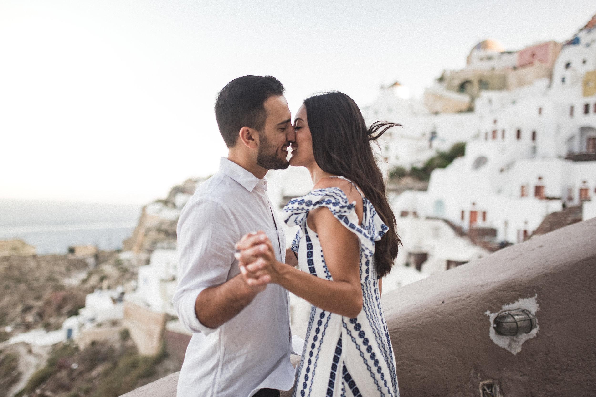 sara + george - santorini | engagement