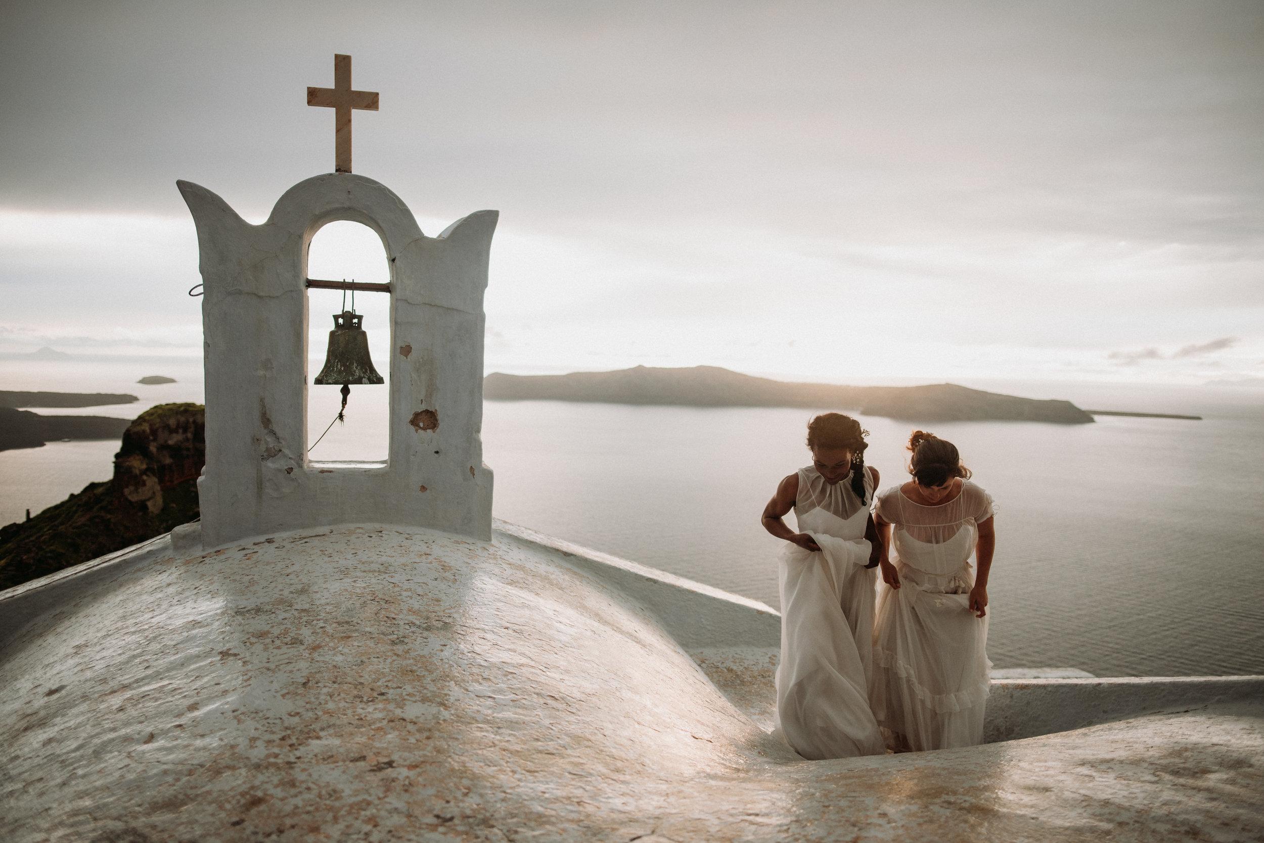 Santorini elopement - sky castles