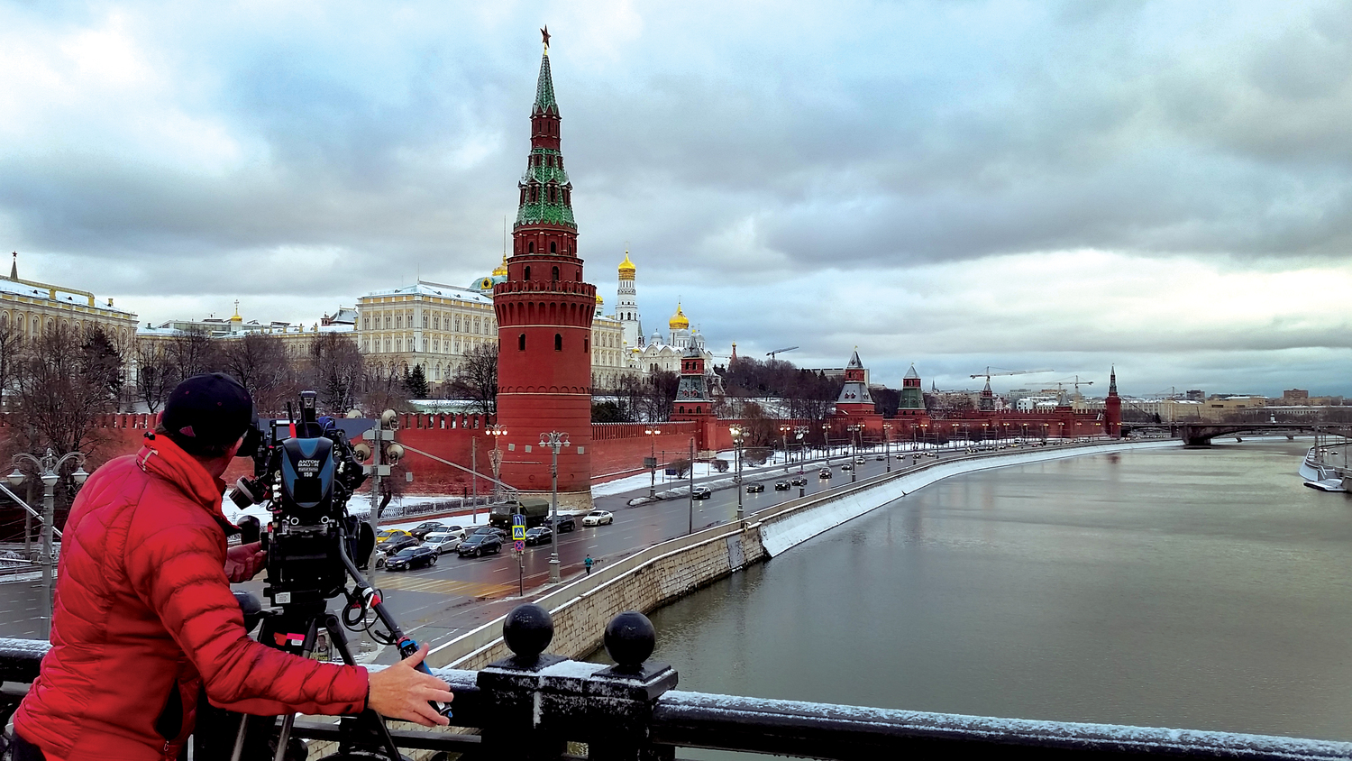 On location in Moscow for Netflix