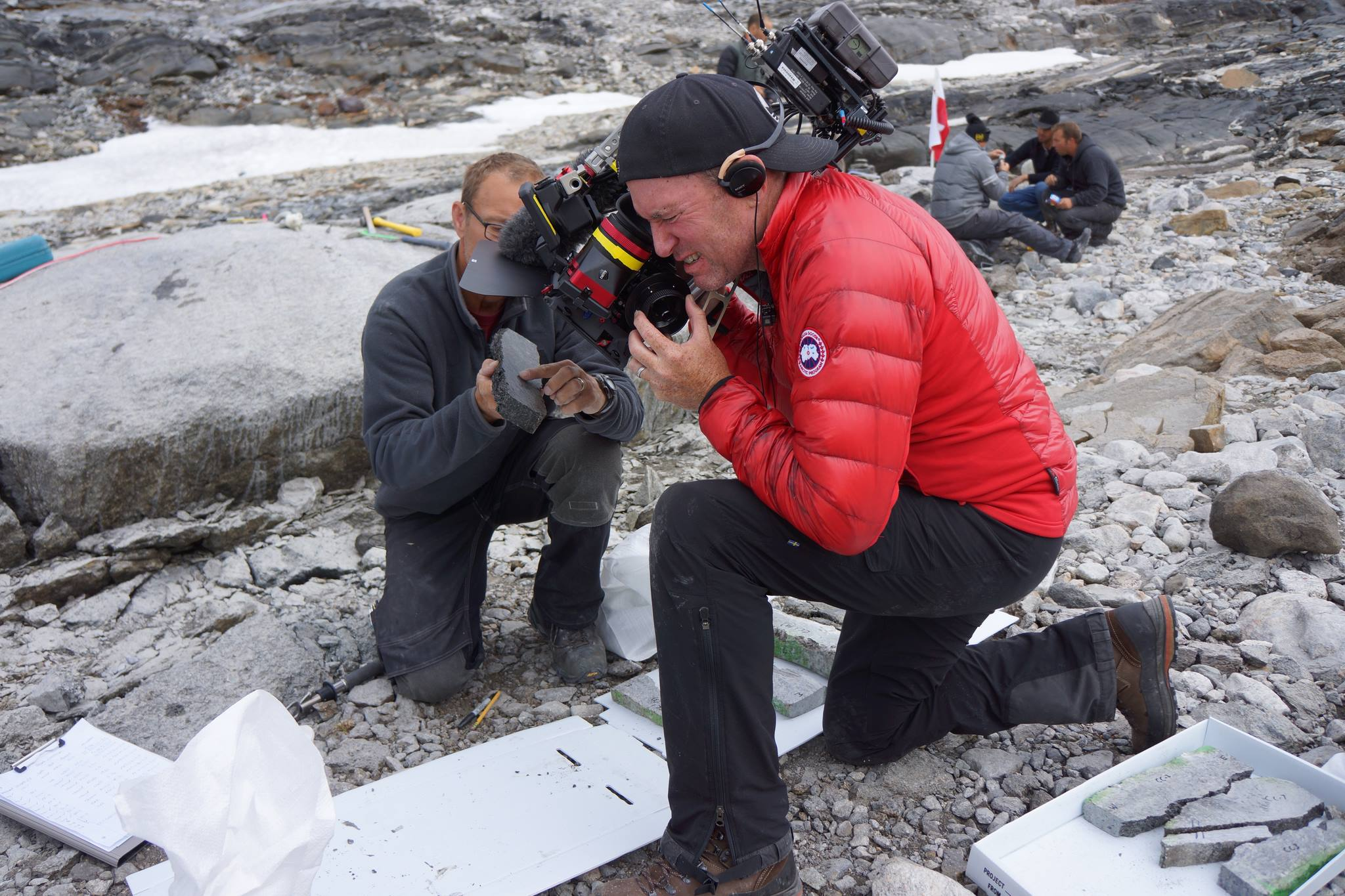 Filming in Greenland for Animal Planet