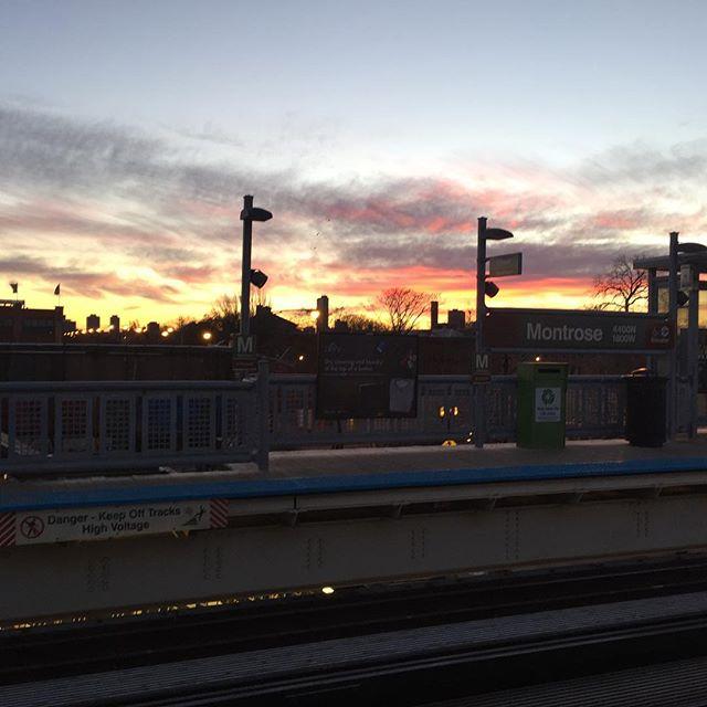 CTA morning commute. Cold, but beautiful.