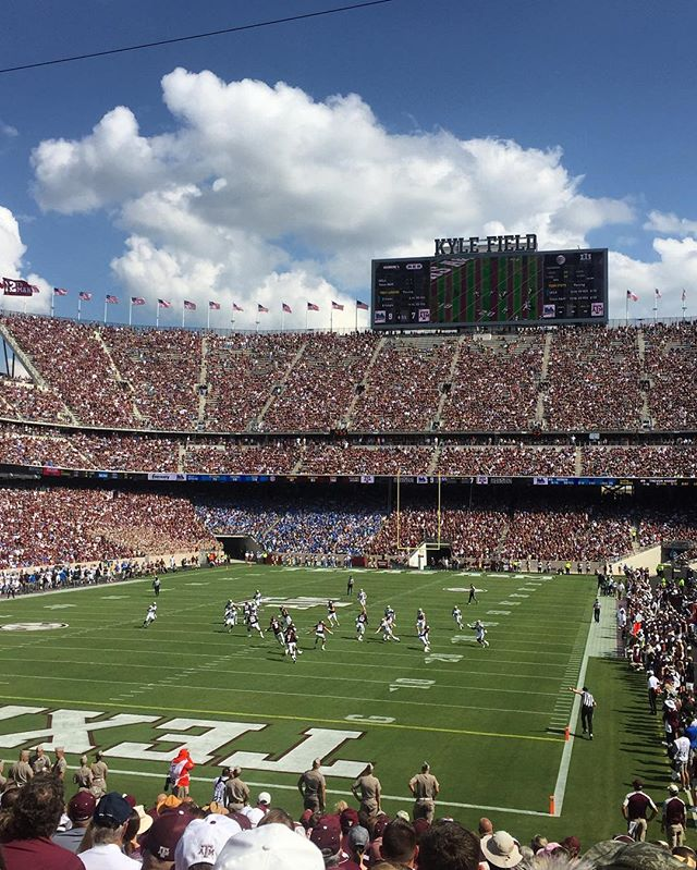 No better place in September. Thanks and gig em! #BTHOUCLA