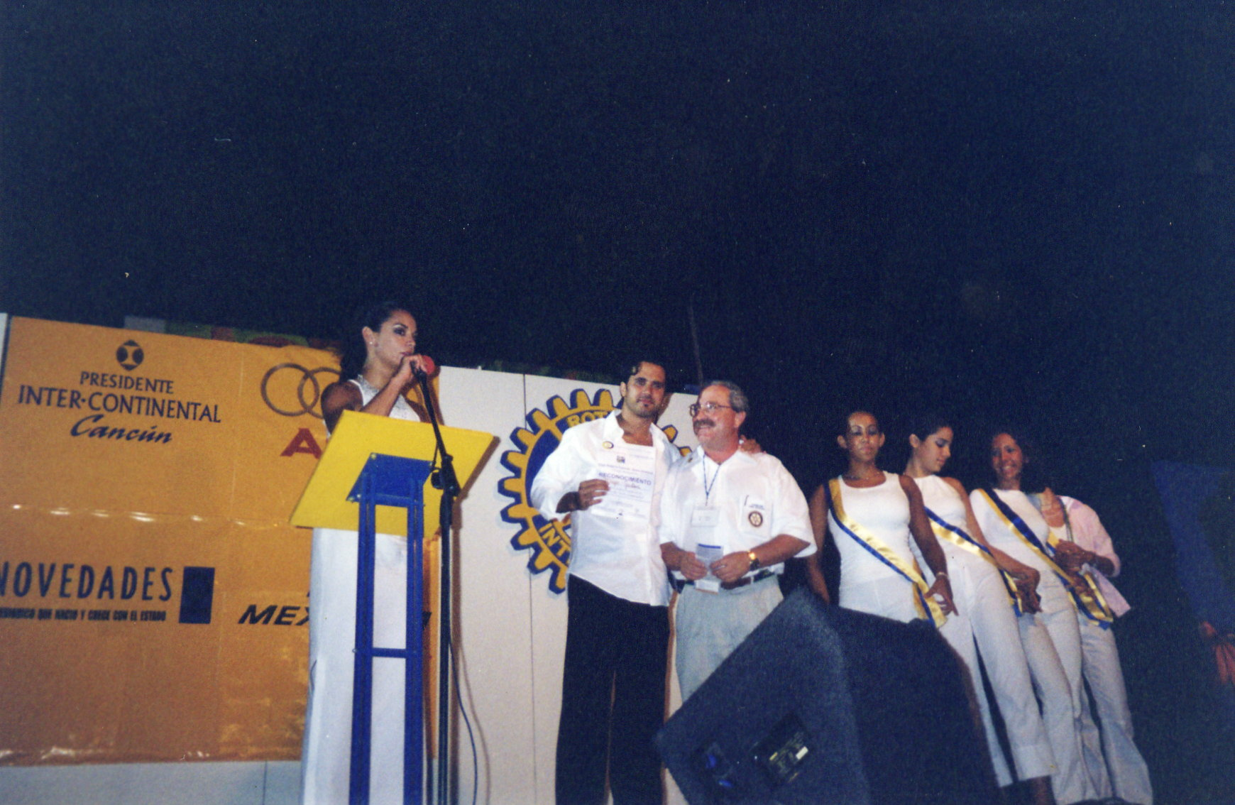 Recieving award for his Show in Cancun Mexico-Awards.jpg